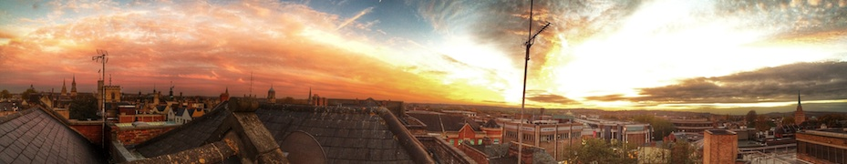 Panoramic Rooftop Sunset